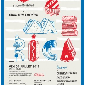 Save your date // 4th july// Dinner in America ***// Cafe Borely