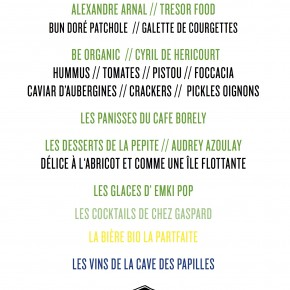 LE MENU VEGGIE PARTY // JEUDI 13 JUILLET // CAFE BORELY